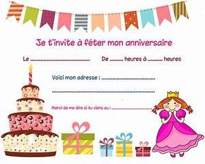 Carte Anniversaire Fille 9 Ans : carte invitation anniversaire carte d invitation anniversaire carte anniversaire carte ~ Melissatoandfro.com Idées de Décoration