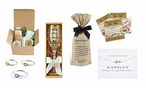 top 20 best bridal party proposal gifts cards heavycom With gifts for wedding party