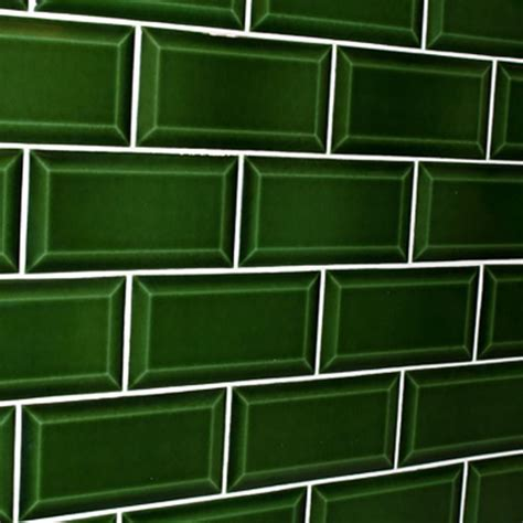 green subway tile green bevelled subway tile design tiles
