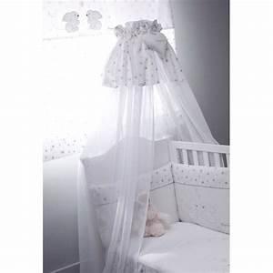 Voile De Lit : basile voile de lit blanc de nougatine ciels de lit aubert ~ Teatrodelosmanantiales.com Idées de Décoration