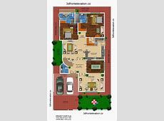 3D Front Elevationcom 1 kanal house drawing , floor