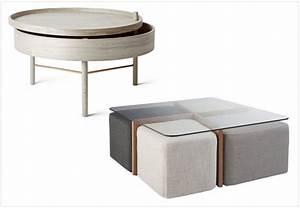 Table Basse Pouf Intégré : les tables basses design multifonctions joli place ~ Dallasstarsshop.com Idées de Décoration