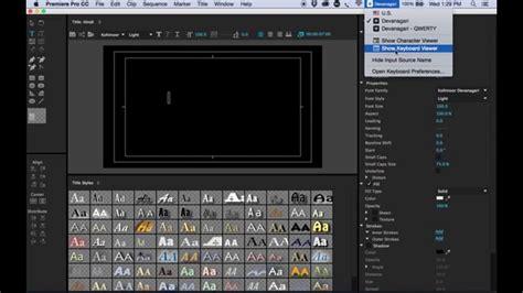 adobe premiere pro cc 2015 unicode font support