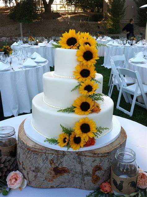 Adorned with sunflowers grown by the Bride & Groom