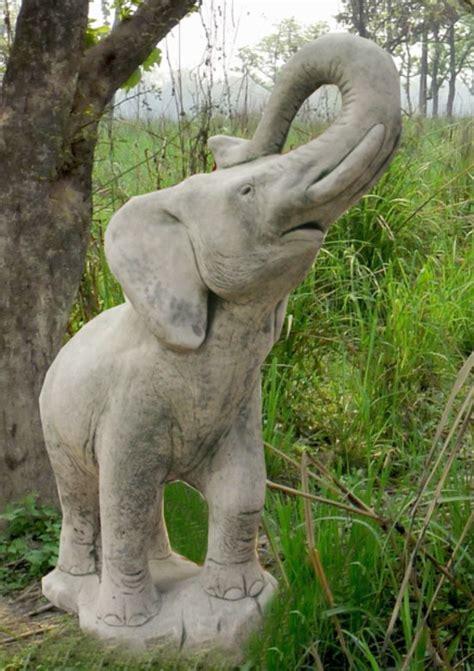 Elefant Massiv Beton 20kg Handarbeit Stein Figur 56cm