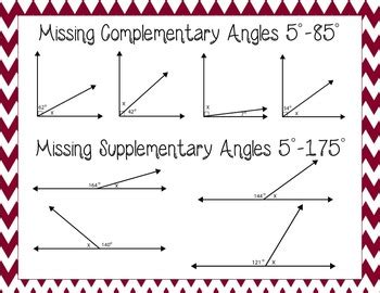 Angles Clipart For 7gb5 Complementary, Supplementary, Adjacent, & Vertical