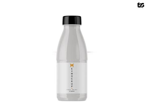Editable jug, lid and reflection color. Free Plastic Milk Bottle Mockup - Free Mockup