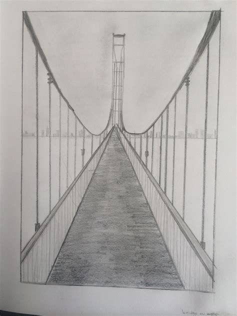 one point perspective bridge | My Paintings and drawings ...