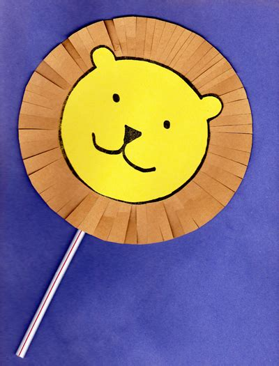 lion preschool craft a puppet craft based on the book dandelion by don 254