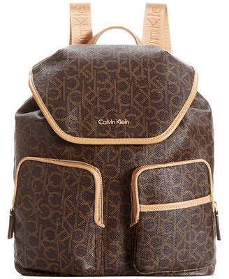 calvin klein hudson monogram backpack handbags