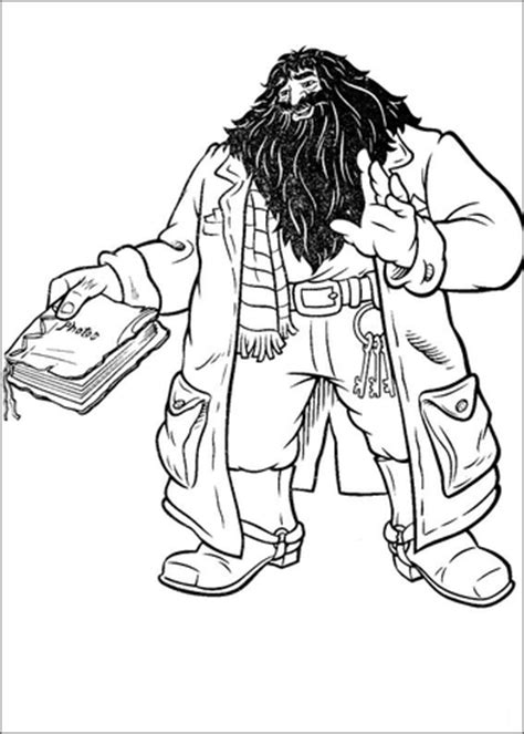 Hagrid coloring page Free Printable Coloring Pages