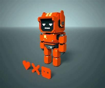 Robots Three Voxel Pixel Behance
