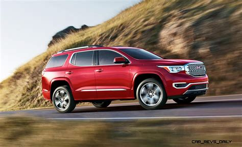 gmc acadia shows radical redesign lb weight loss