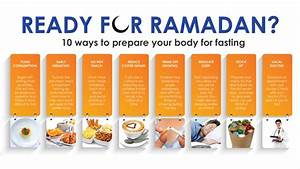10 ways to prepare your body for fasting - IslamiCity