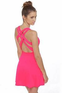Call Me Baby Neon Pink Dress by Lulusdot