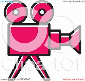 Clipart of a Pink Movie Camera | Clipart Panda - Free ...