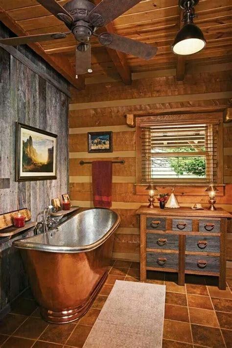 rustic bath tubs rustic copper tub bathroom dream home pinterest