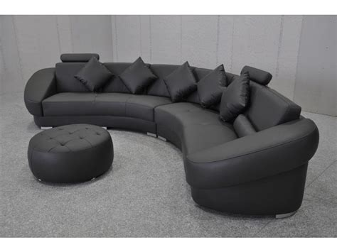 canape demi cercle canapé d 39 angle design en cuir aquila pouf pop design fr