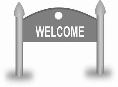 Welcome Sign Clip Clipart Board Signs Svg
