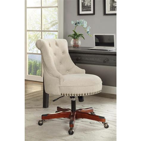Linon Home Decor Sinclair Natural Polyester Office Chair