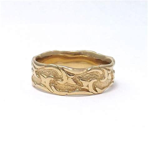 artcarved 14k yellow gold modernist wedding band ring sz
