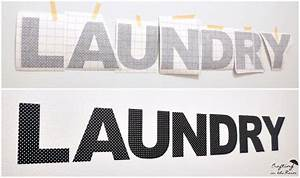 laundry room decorating with vinyl crafting in the rain With peel and press letters