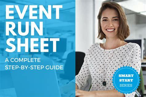 event run sheet template  step  step guide