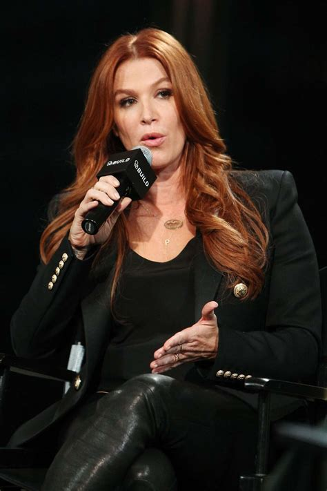 Poppy Montgomery Promotes Unforgettable At Aol Buils ...