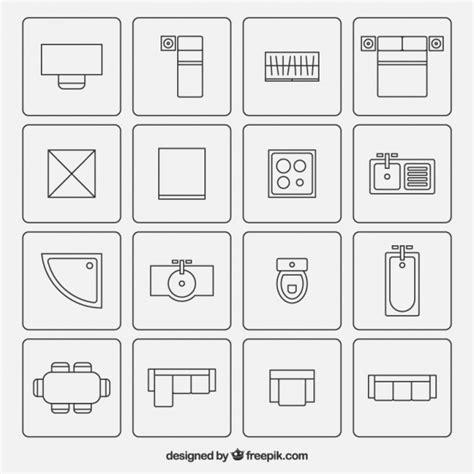 moveis simbolos usados em planos de arquitetura baixar
