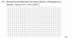 Steuerklasse 4 Faktor Berechnen : trapez fl cheninhalt eines trapezes in abh ngigkeit von x berechnen mathelounge ~ Themetempest.com Abrechnung