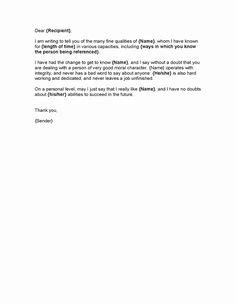 sample character reference letter images sample