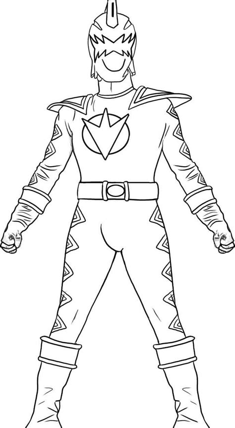 power rangers dino thunder coloring pages power ranger