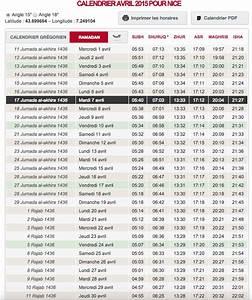 Fleur D Islam Horaire Priere : horaire de pri re pour le mois d 39 avril 2015 ~ Medecine-chirurgie-esthetiques.com Avis de Voitures