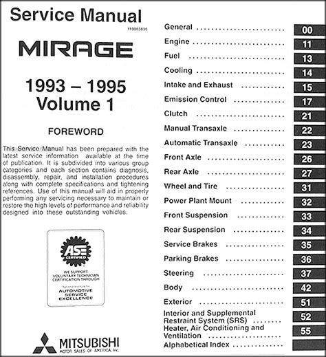 motor repair manual 1990 mitsubishi mirage auto manual 1993 1995 mitsubishi mirage repair shop manual set original