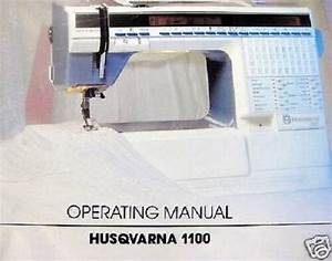 Viking Husqvarna  1100 Operating Sewing Manual Guide Cd