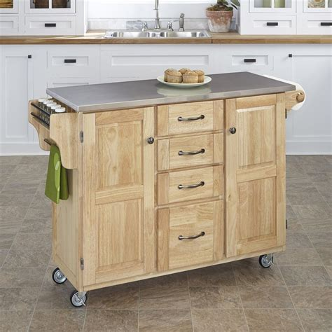 kitchen island with casters shop home styles 52 5 in l x 18 in w x 35 75 in h