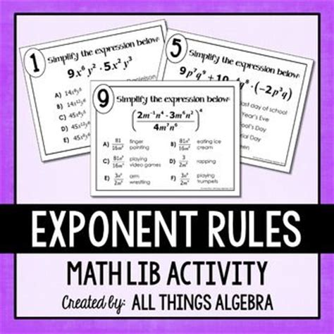 Unit 7 Exponent Rules Worksheet 2 Answer Key  1000 Ideas About Exponents Practice On Pinterest