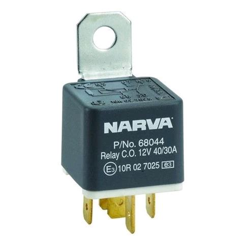 narva 68044 relay 12v 5pin 40 30a r auto cable accessories