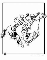 Coloring Derby Kentucky Stake Template Hat Sheets Printable Horse Jockey sketch template