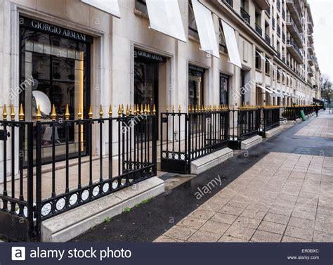 giorgio armani store exterior  window displays avenue