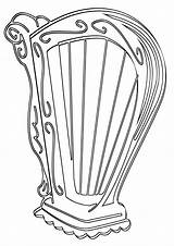 Harp Coloring Pages Harp2 sketch template