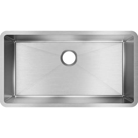 elkay sinks kitchen elkay crosstown undermount stainless steel 33 in single 3558