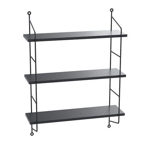 floating shelves wall mounted industrial metal frame wood