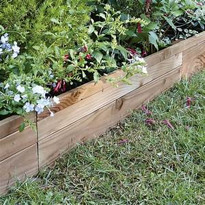 bordure a planter douglas bois marron h45 x l90 cm With comment amenager un jardin 7 jardin des nevelaines pour vos jardins pelouses