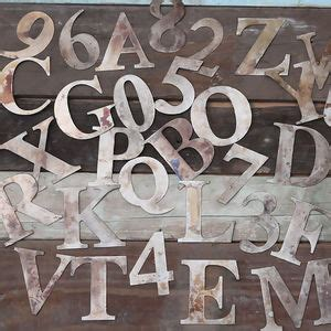 small metal letters metal wall letters 24901
