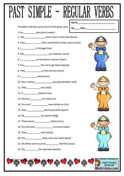 past simple regular verbs teaching 1st grade