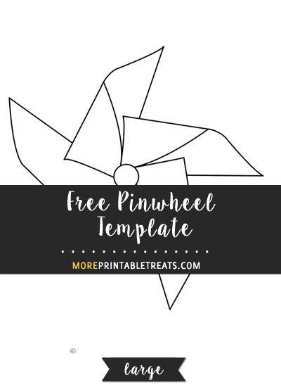 Pinwheel Template Printable Large