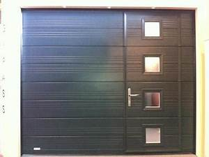 porte de garage sectionnelle With porte de garage sectionnelle avec porte pvc sur mesure leroy merlin