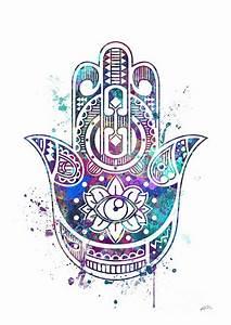 Hamsa Hand Digital Art by Svetla Tancheva