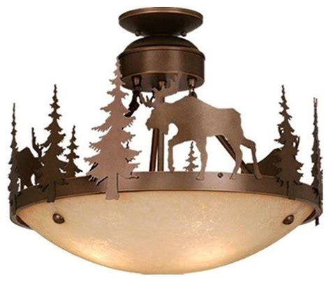 vaxcel cf55618bbz yellowstone semi flush mount light